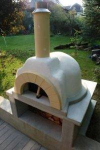 steinbackofen pizzaofen kuppelofen f r restaurant oder garten. Black Bedroom Furniture Sets. Home Design Ideas